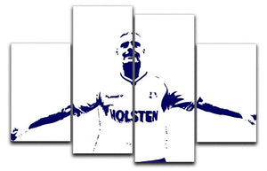 Gazza 4 Split Panel Canvas  - Canvas Art Rocks - 1