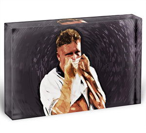 Gazza Tears at Italia '90 Acrylic Block - Canvas Art Rocks - 1