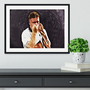 Gazza Tears at Italia '90 Framed Print - Canvas Art Rocks - 1