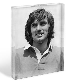 George Best Icon Acrylic Block - Canvas Art Rocks - 1
