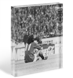 George Best Protest Acrylic Block - Canvas Art Rocks - 1