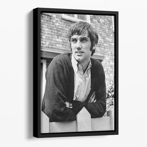 George Best in 1968 Floating Framed Canvas - Canvas Art Rocks - 1