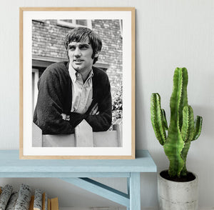 George Best in 1968 Framed Print - Canvas Art Rocks - 3
