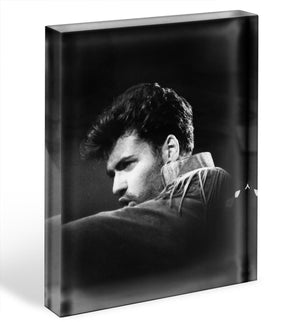 George Michael in 1986 Acrylic Block - Canvas Art Rocks - 1