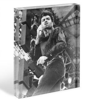 George Michael in Whams last concert Acrylic Block - Canvas Art Rocks - 1
