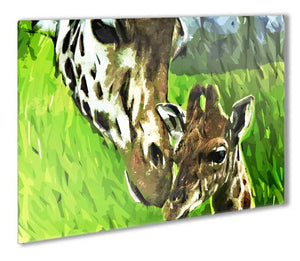 Giraffes Metal Print - Canvas Art Rocks - 1