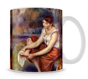 Girl dryes her feet by Renoir Mug - Canvas Art Rocks - 1