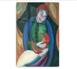 Girl with a Cat II by Franz Marc HD Metal Print