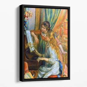 Girls at the Piano by Renoir Floating Framed Canvas