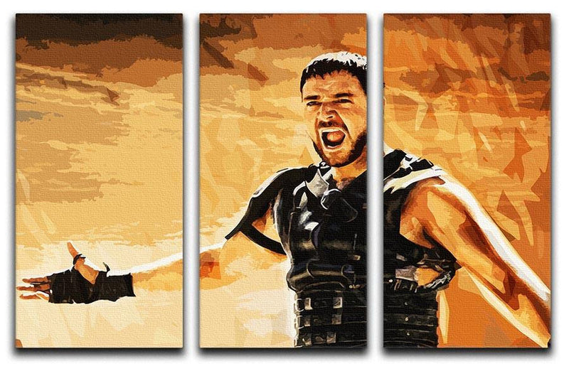 Gladiator 3 Split Panel Canvas Print - Canvas Art Rocks - 4