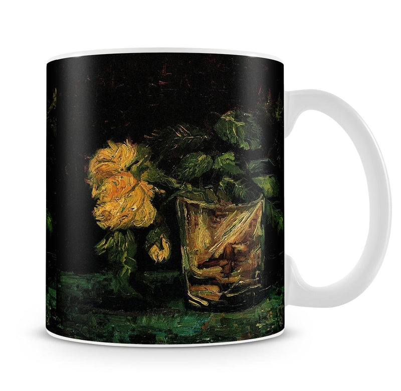 Glass with Roses by Van Gogh Mug - Canvas Art Rocks - 4