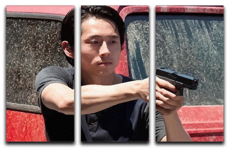Glenn The Walking Dead 3 Split Panel Canvas Print - Canvas Art Rocks - 4