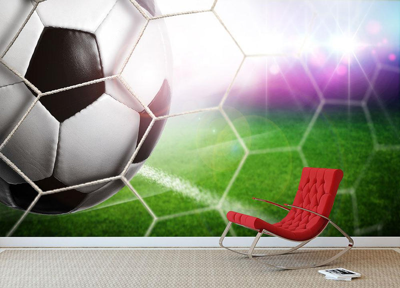 Goal Wall Mural Wallpaper - Canvas Art Rocks - 1