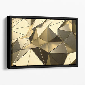 Gold Geometric Surface Floating Framed Canvas - Canvas Art Rocks - 1