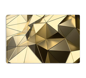 Gold Geometric Surface HD Metal Print - Canvas Art Rocks - 1
