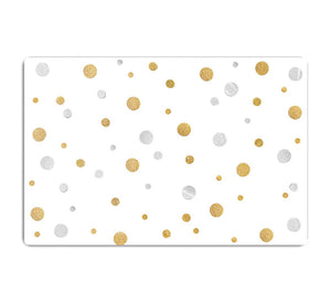 Gold and Silver Glitter Polka Dot HD Metal Print - Canvas Art Rocks - 1