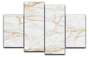 Golden Marble 4 Split Panel Canvas - Canvas Art Rocks - 1