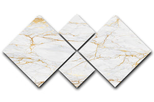 Golden Marble 4 Square Multi Panel Canvas - Canvas Art Rocks - 1