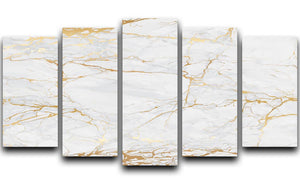 Golden Marble 5 Split Panel Canvas - Canvas Art Rocks - 1