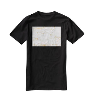 Golden Marble T-Shirt - Canvas Art Rocks - 1