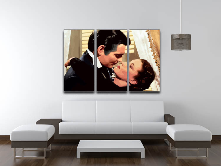 Gone With the Wind 3 Split Panel Canvas Print - Canvas Art Rocks