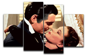 Gone With the Wind 4 Split Panel Canvas  - Canvas Art Rocks - 1