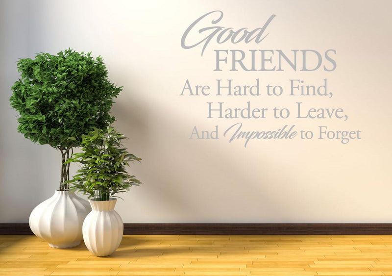Good Friends Wall Sticker - Canvas Art Rocks - 1
