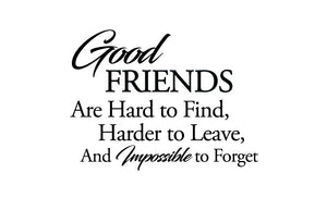 Good Friends Wall Sticker - Canvas Art Rocks - 2