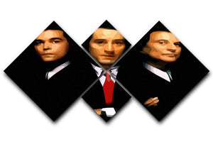 Goodfellas 4 Square Multi Panel Canvas  - Canvas Art Rocks - 1