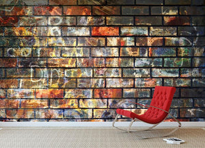 Graffiti wall Wall Mural Wallpaper - Canvas Art Rocks - 2