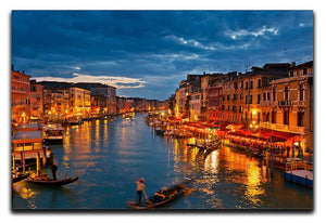 Grand Canal Venice at night Canvas Print or Poster  - Canvas Art Rocks - 1