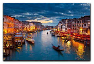 Grand Canal at night Venice Canvas Print or Poster  - Canvas Art Rocks - 1