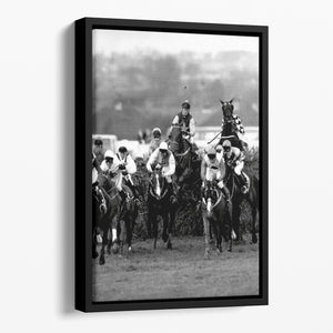 Grand National 1992 Carl Llewellyn on Party Politics Floating Framed Canvas - Canvas Art Rocks - 1
