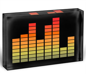 Graphic Equaliser Acrylic Block - Canvas Art Rocks - 1