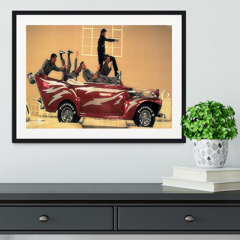 Grease Lighting Framed Print - Canvas Art Rocks - 1