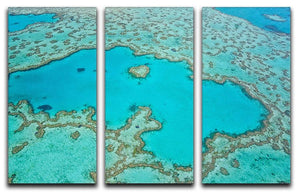 Great Barrier Reef Aerial View 3 Split Panel Canvas Print - Canvas Art Rocks - 1