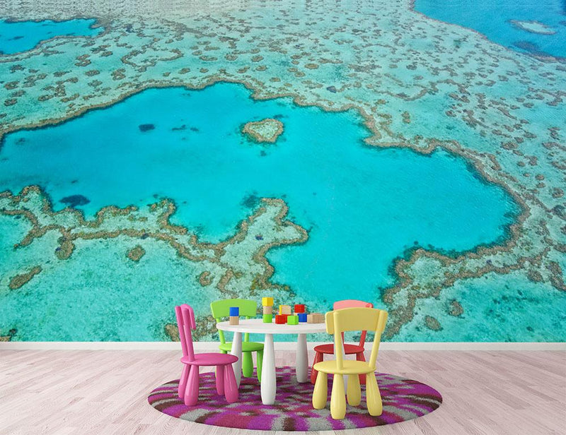 Great Barrier Reef Aerial View Wall Mural Wallpaper - Canvas Art Rocks - 1
