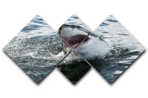Great white shark 4 Square Multi Panel Canvas  - Canvas Art Rocks - 1