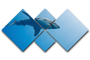 Great white shark Guadalupe Island 4 Square Multi Panel Canvas  - Canvas Art Rocks - 1