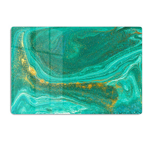 Green Swirled Marble HD Metal Print - Canvas Art Rocks - 1