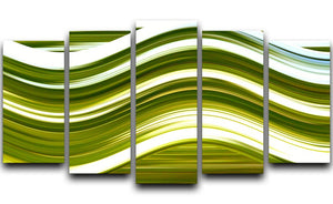 Green Wave 5 Split Panel Canvas - Canvas Art Rocks - 1