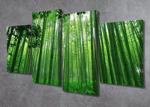 Green bamboo forest 4 Split Panel Canvas  - Canvas Art Rocks - 2