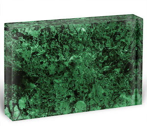 Green marble tiles seamless Acrylic Block - Canvas Art Rocks - 1