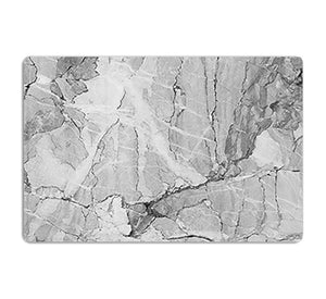 Grey Abstract Textured Marble HD Metal Print - Canvas Art Rocks - 1