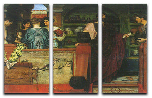 Hadrian visiting a Roman British pottery by Alma Tadema 3 Split Panel Canvas Print - Canvas Art Rocks - 1