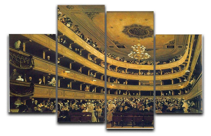 Hall by Klimt 4 Split Panel Canvas
