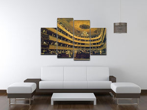 Hall by Klimt 4 Split Panel Canvas - Canvas Art Rocks - 3