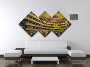 Hall by Klimt 4 Square Multi Panel Canvas - Canvas Art Rocks - 3