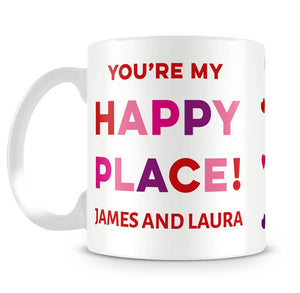 Happy Place Photo Upload Personalised Mug