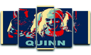 Harley Quinn Pop Art 5 Split Panel Canvas  - Canvas Art Rocks - 1